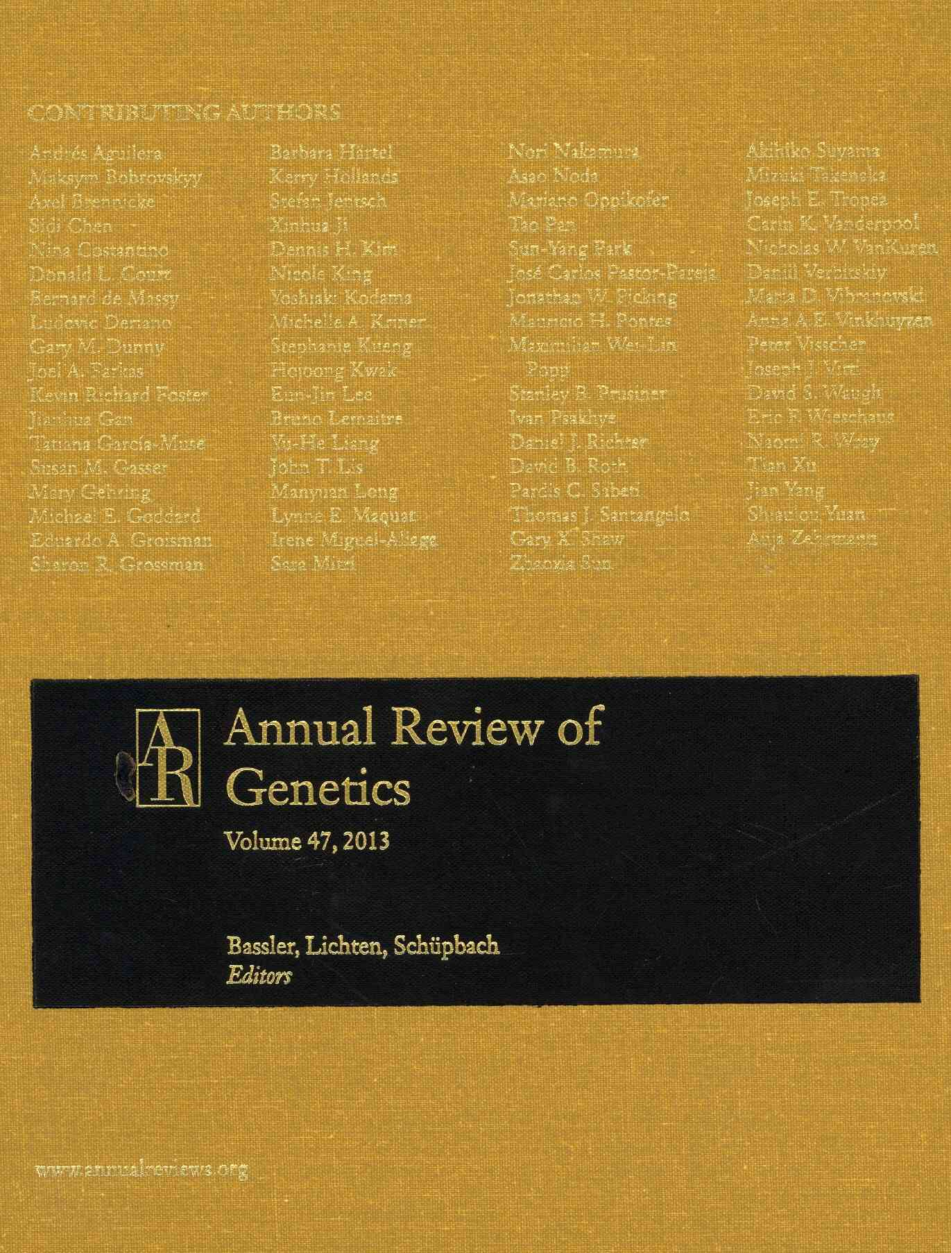 Annual Review of Genetics 2013